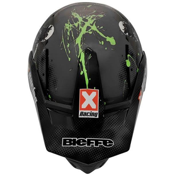Capacete Bieffe 3 Sport Xracing Cinza Fosco/Verde  - Manolo Motos
