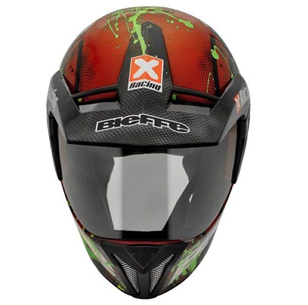 Capacete Bieffe 3 Sport Xracing Vermelho/Verde  - Manolo Motos