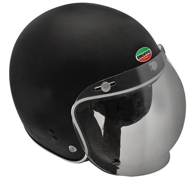 Capacete Custom Retrô Bieffe B 45 Storia Preto Fosco  - Manolo Motos