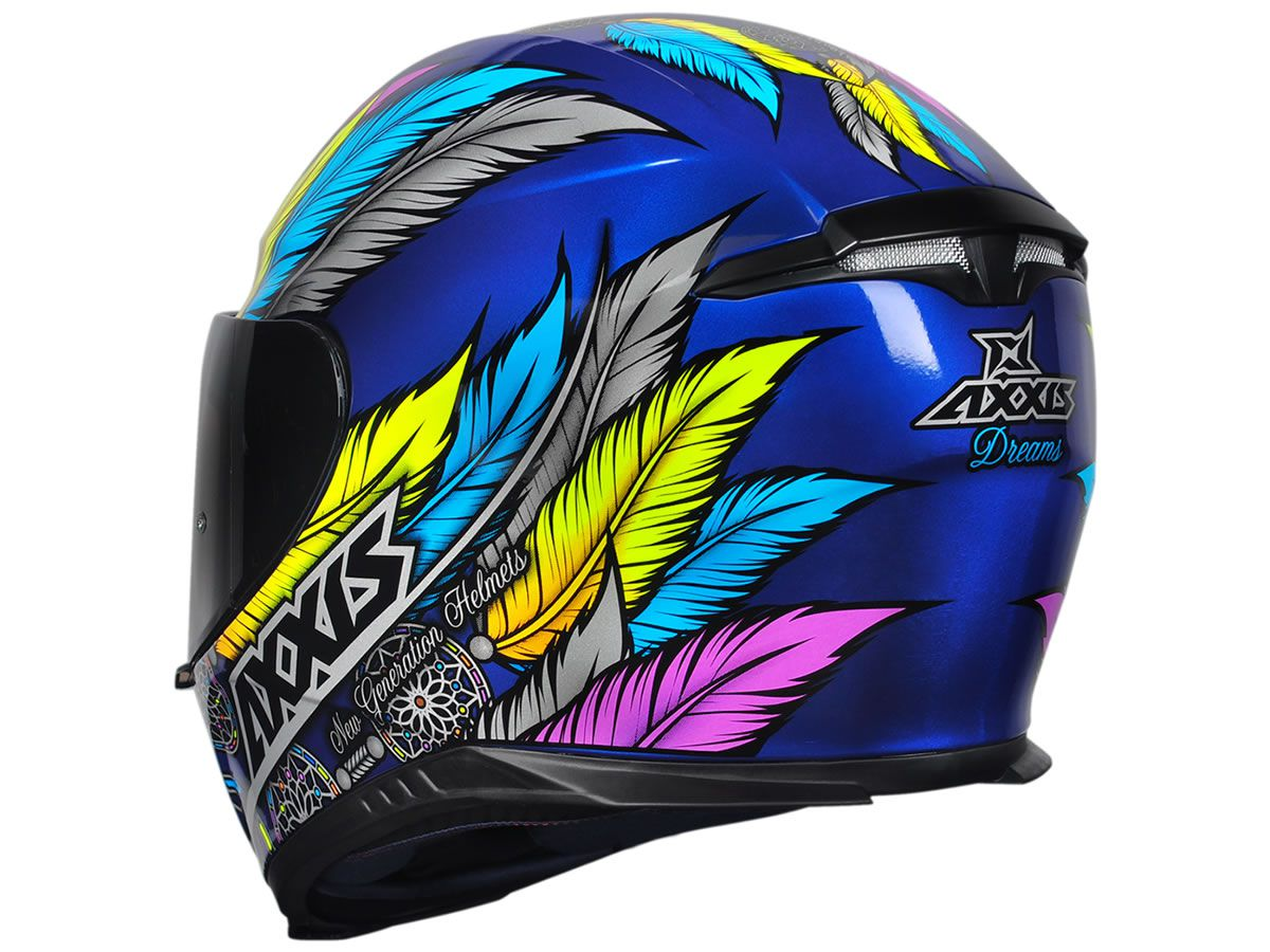 Capacete Feminino Axxis Eagle Dreams Azul  - Manolo Motos