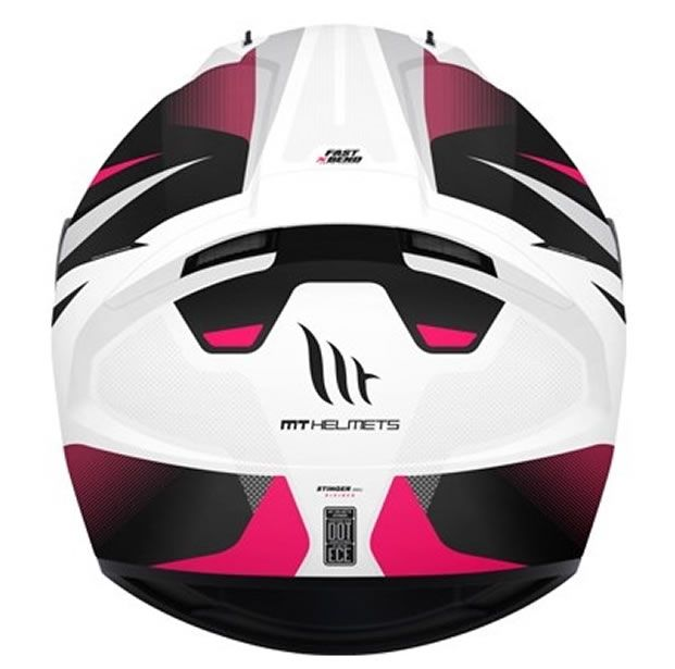Capacete MT Stinger Divided Branco/Rosa  - Manolo Motos