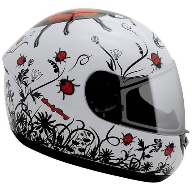 Capacete Feminino Peels Spike LadyBug Branco/Vermelho  - Manolo Motos