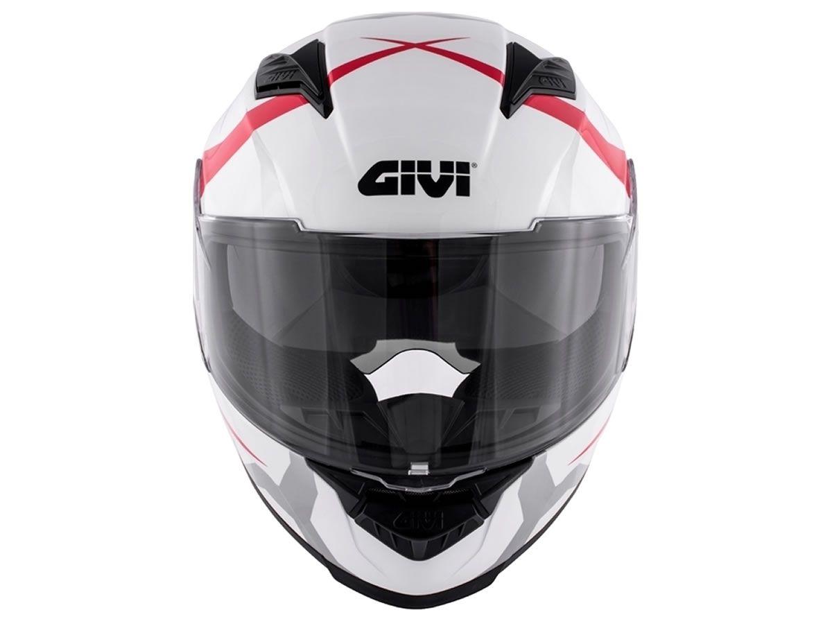 Capacete GIVI 50.5 Vortix Braco/vermelho  - Manolo Motos