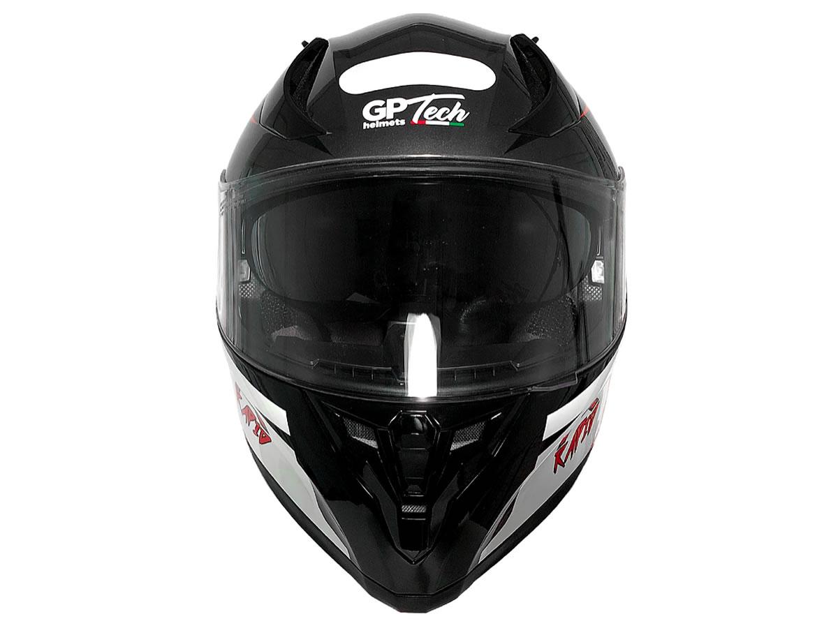 Capacete Integral GP Tech Rapid SV 128 Preto Brilho  - Manolo Motos