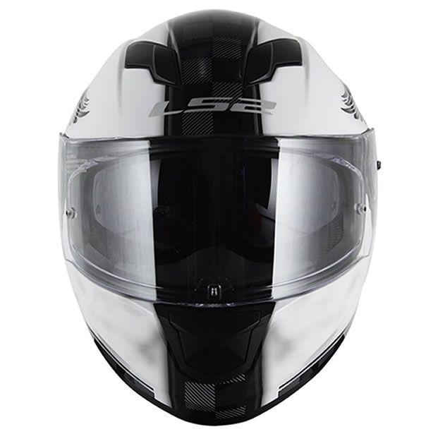 Capacete LS2 FF320 Stream Garage Branco  - Manolo Motos