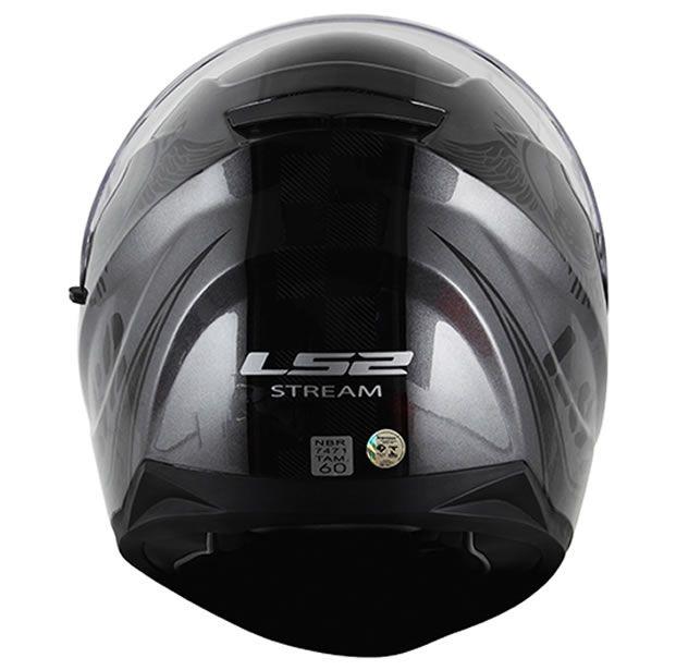 Capacete LS2 FF320 Stream Garage Cinza Titânio  - Manolo Motos