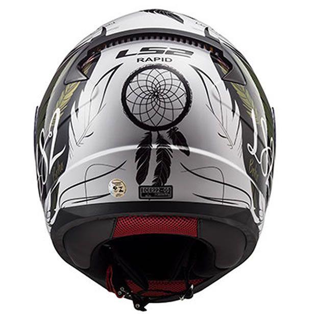 Capacete LS2 FF353 Rapid Boho Branco/Preto/Rosa Brilho  - Manolo Motos
