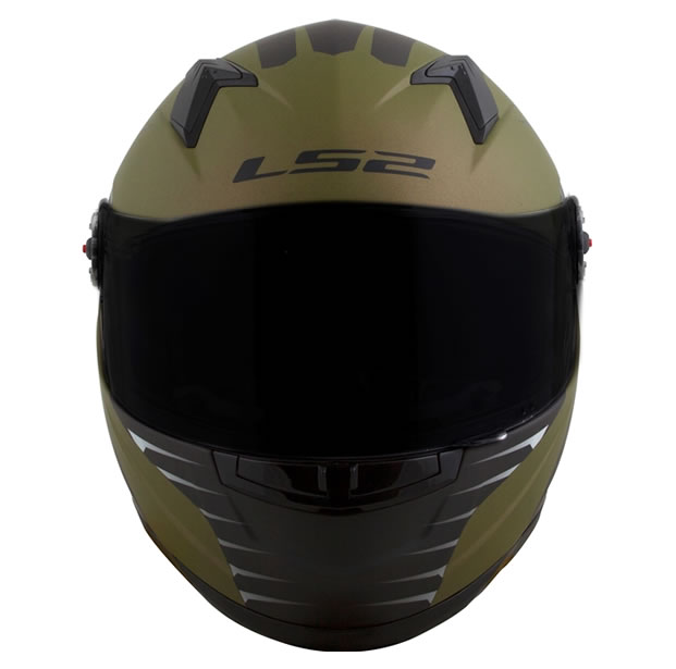 Capacete LS2 FF358 Air Fighter Preto/Verde Fosco  - Manolo Motos