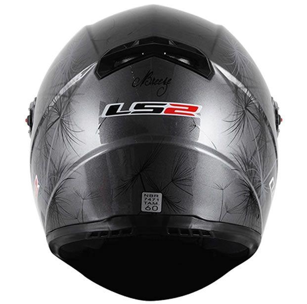 Capacete LS2 FF358 Breeze Preto/Cinza  - Manolo Motos