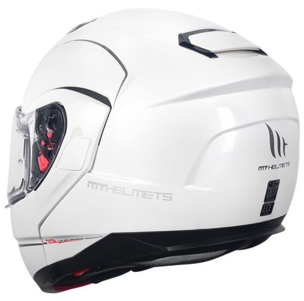 Capacete MT Atom SV Articulado Mono Branco Brilho  - Manolo Motos