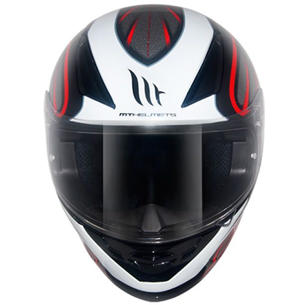 Capacete MT Revenge Alfa Black Branco/Preto/Vermelho  - Manolo Motos
