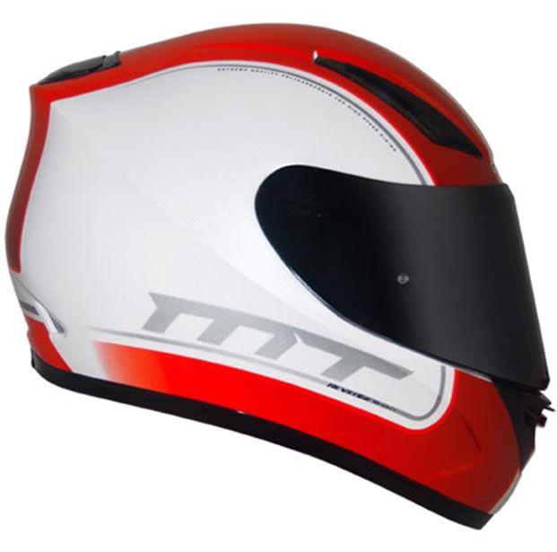 Capacete MT Revenge Binomy Branco/Vermelho/Verde  - Manolo Motos