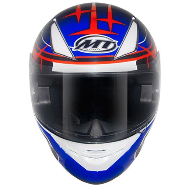 Capacete MT Revenge Réplica GP Branco/Vermelho/Azul  - Manolo Motos
