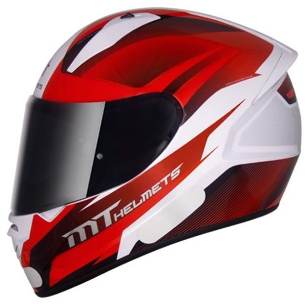 Capacete MT Stinger Divided Branco/Vermelho  - Manolo Motos
