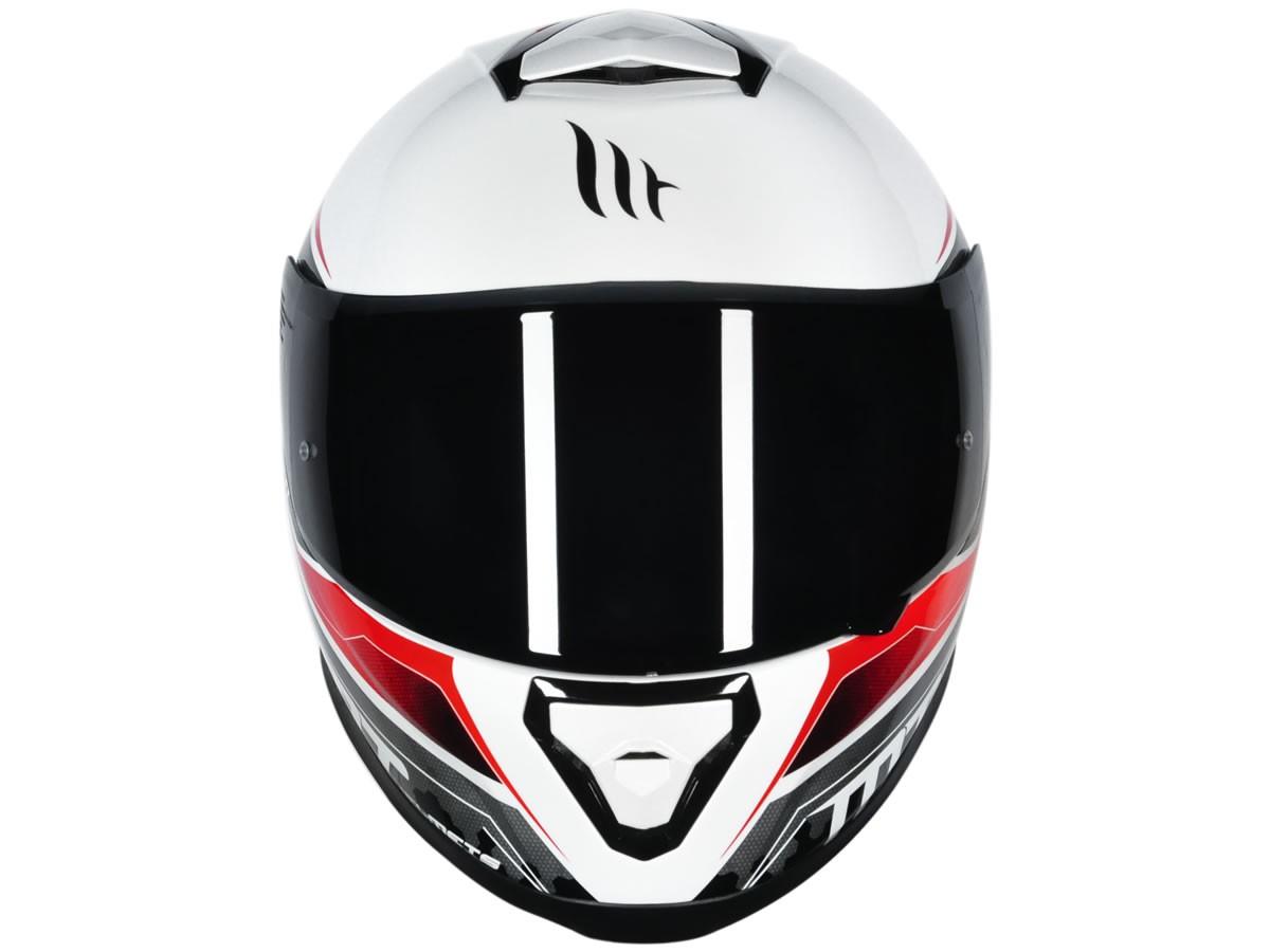 Capacete MT Thunder 3 Avanti Branco/Vermelho Brilho  - Manolo Motos