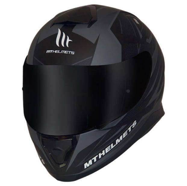 Capacete MT Thunder 3 Effect Preto/Cinza Fosco  - Manolo Motos