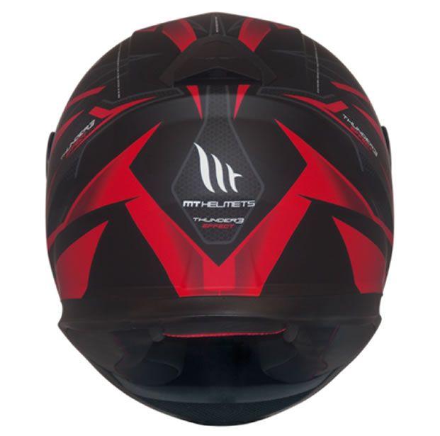 Capacete MT Thunder 3 Effect Preto/Vermelho Fosco  - Manolo Motos