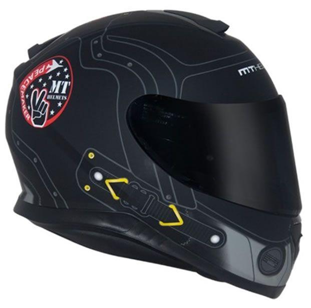Capacete MT Thunder 3 Peacemaker Preto Fosco  - Manolo Motos