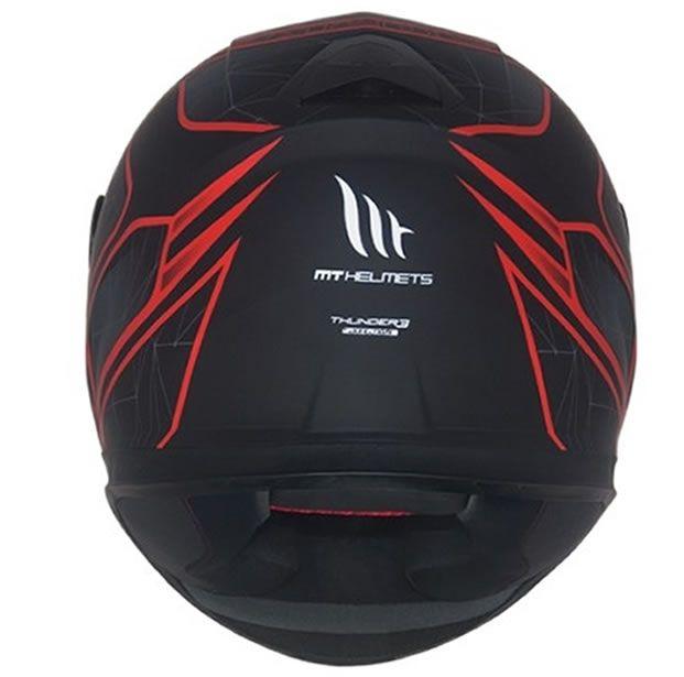 Capacete MT Thunder 3 Storke Preto/Vermelho Fosco  - Manolo Motos