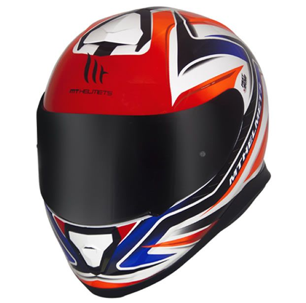Capacete MT Thunder 3 Storm SP-R Branco/Preto/Vermelho  - Manolo Motos