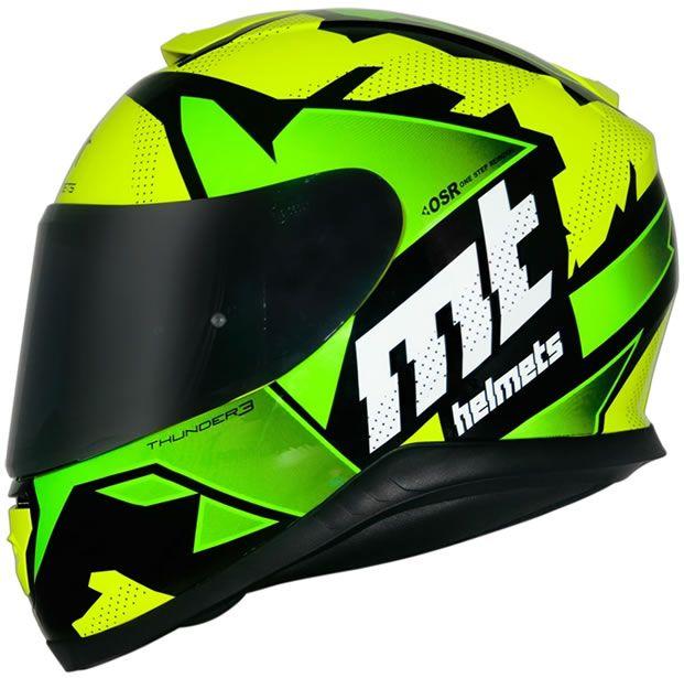 Capacete MT Thunder 3 Torn Amarelo/Verde Brilho