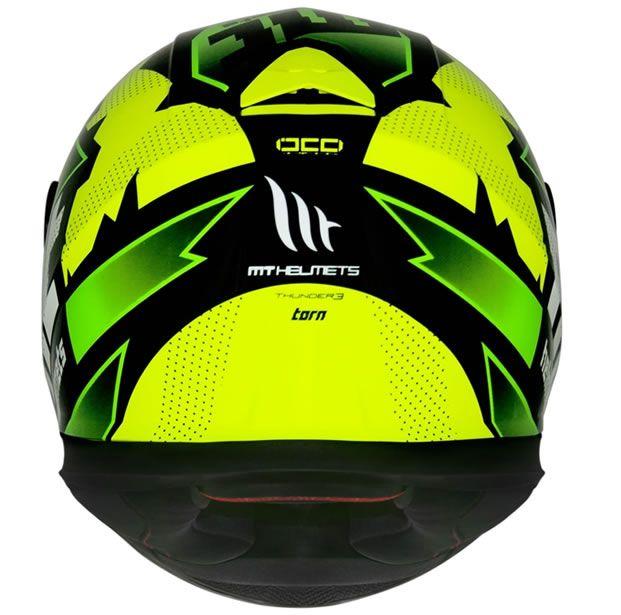 Capacete MT Thunder 3 Torn Amarelo/Verde Brilho  - Manolo Motos