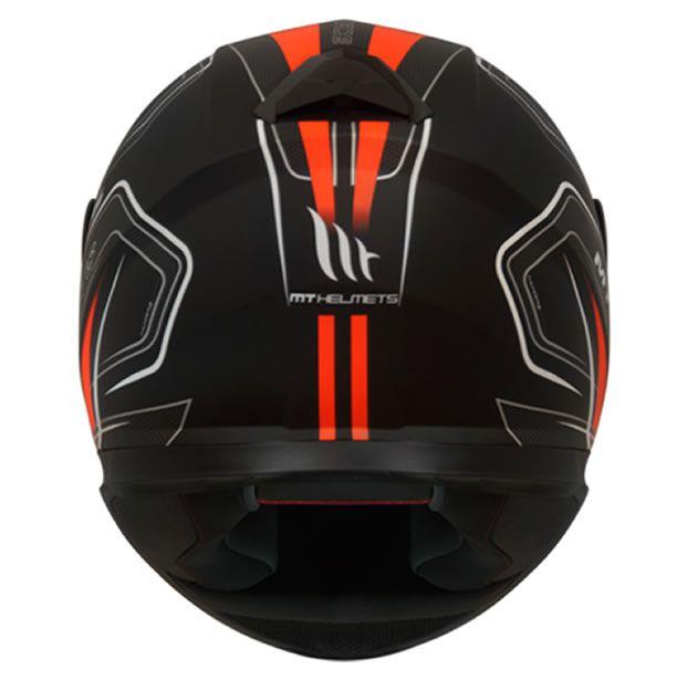 Capacete MT Thunder 3 Trace Preto/Laranja Fosco  - Manolo Motos