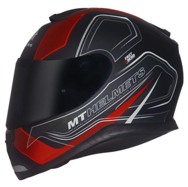 Capacete MT Thunder 3 Trace Preto/Vermelho Fosco  - Manolo Motos