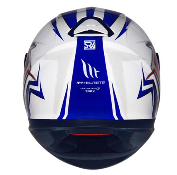 Capacete MT Thunder 3 Trex Branco/Azul  - Manolo Motos