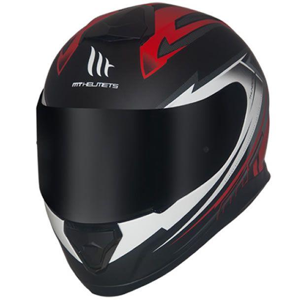 Capacete MT Thunder 3 Trex Preto/Vermelho Fosco  - Manolo Motos