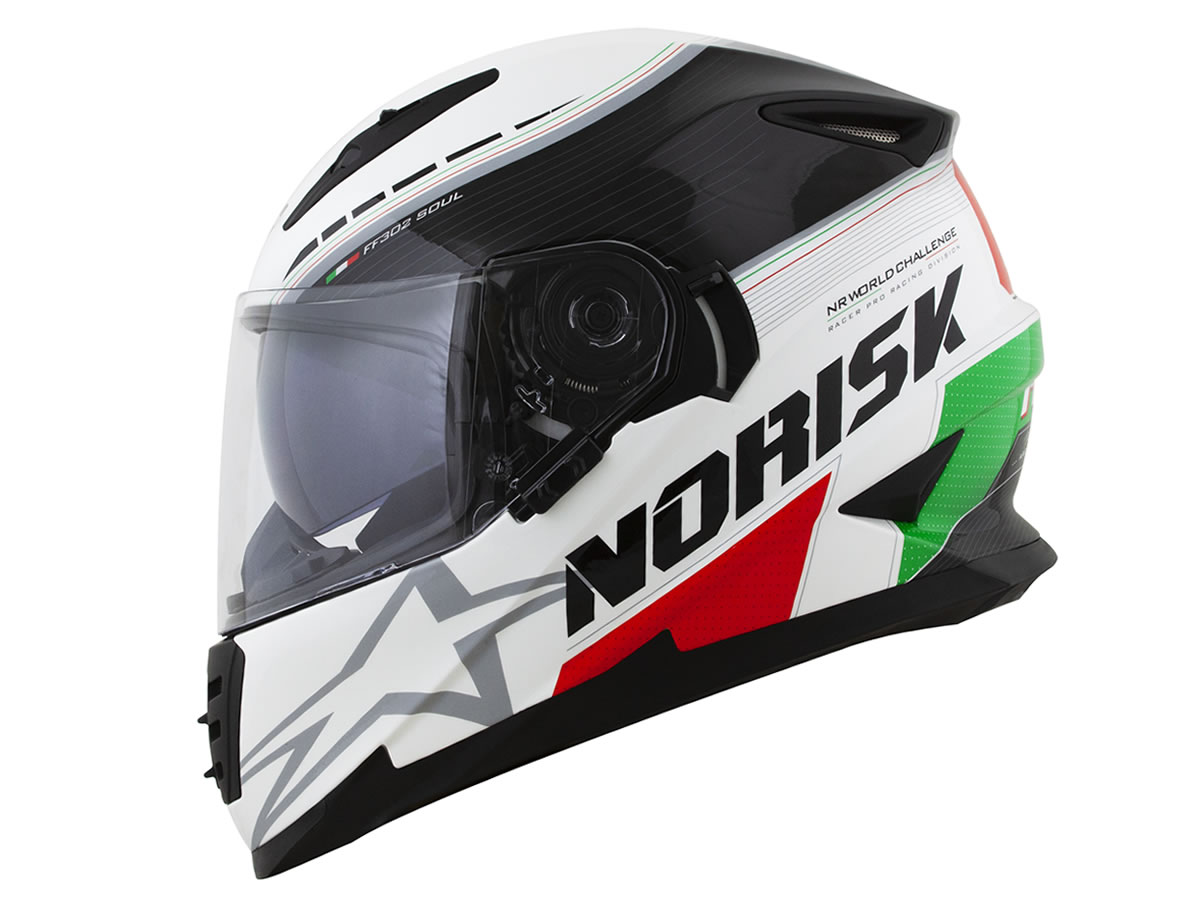 Capacete Norisk FF302 Grand Prix Italy  - Manolo Motos