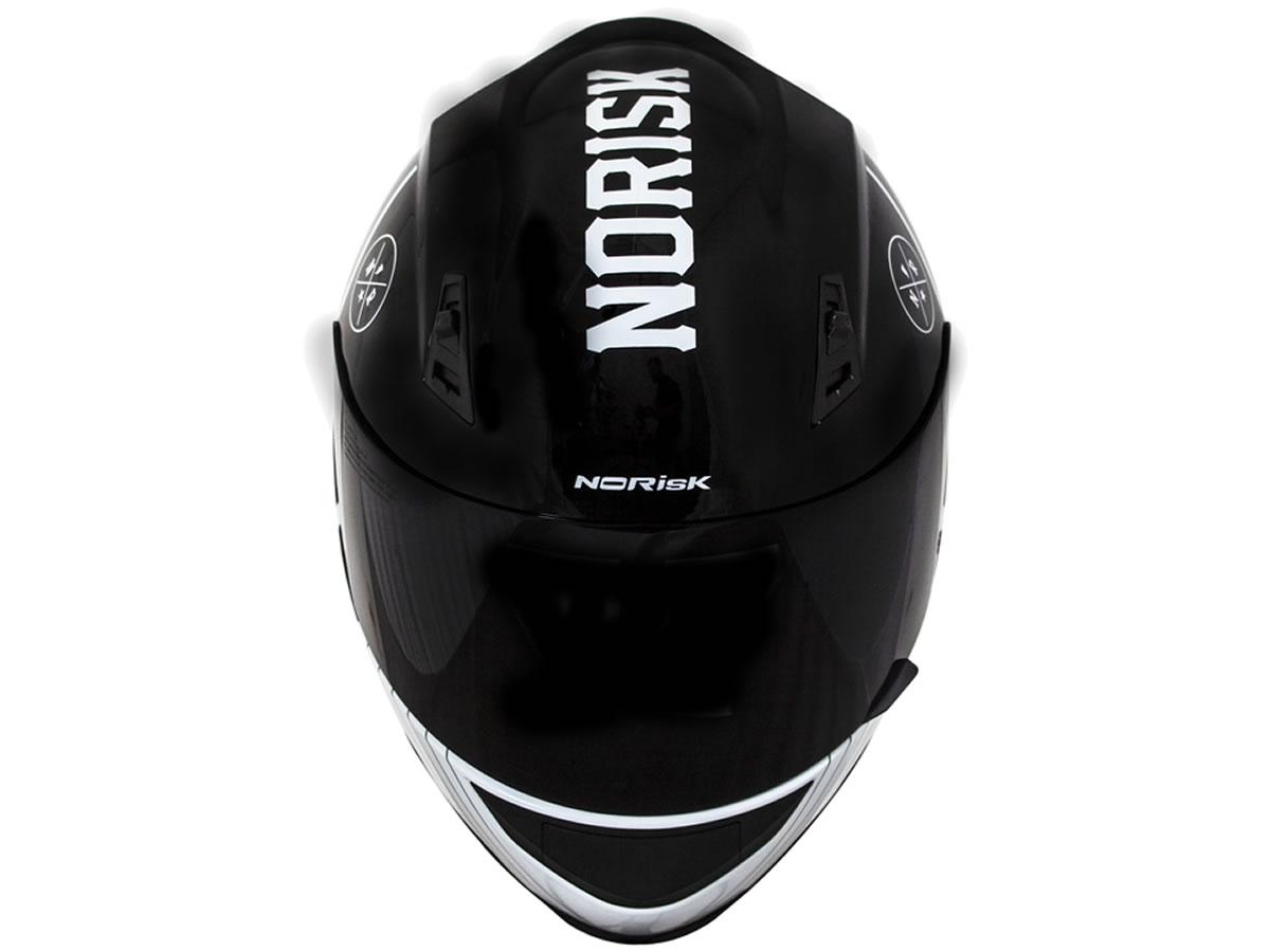Capacete Norisk FF391 Stunt Knight Preto/branco  - Manolo Motos