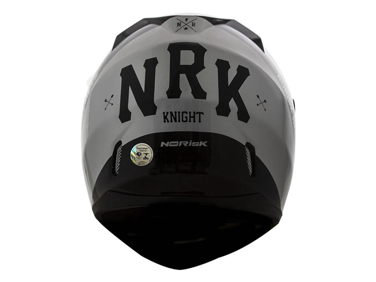 Capacete Norisk FF391 Stunt Knight Preto/Cinza  - Manolo Motos