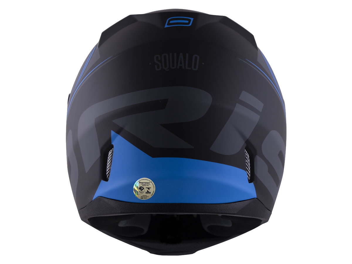 Capacete Norisk FF391 Stunt Squalo Preto Fosco/Azul  - Manolo Motos