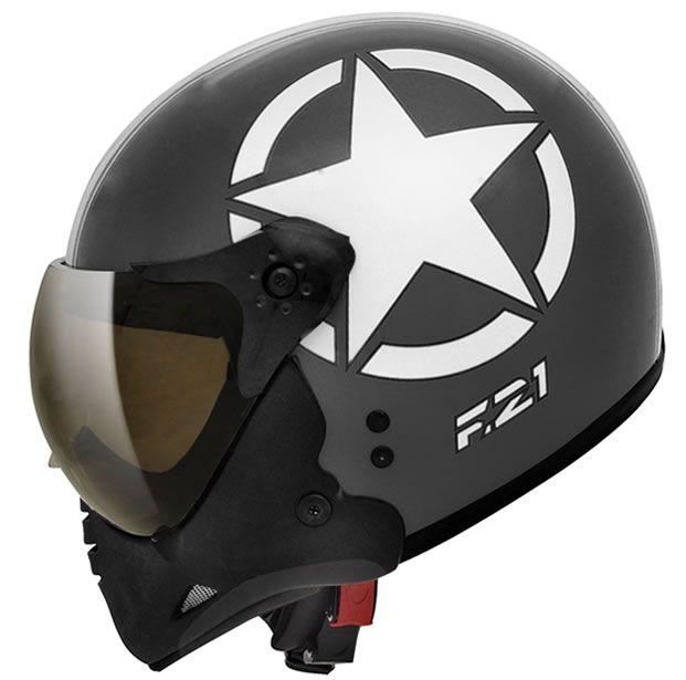 Capacete Peels F21 Army Preto chumbo/Branco