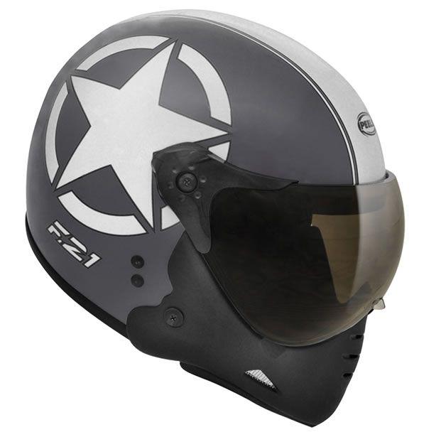 Capacete Peels F21 Army Preto chumbo/Branco  - Manolo Motos