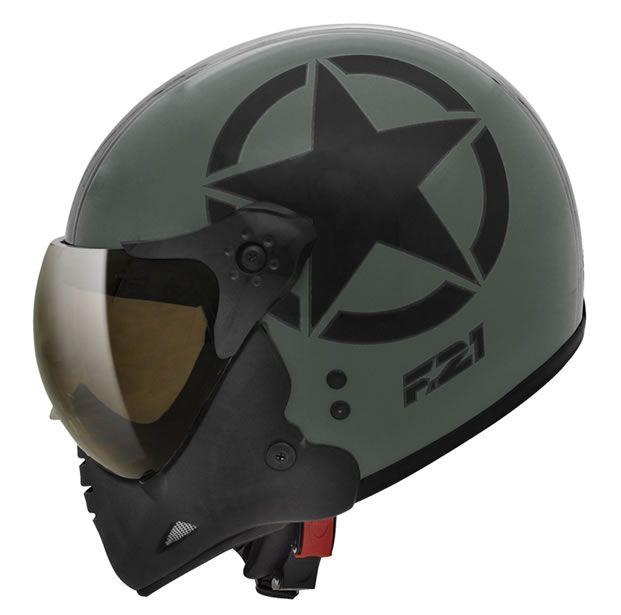 Capacete Peels F21 Army Verde Fosco/Preto