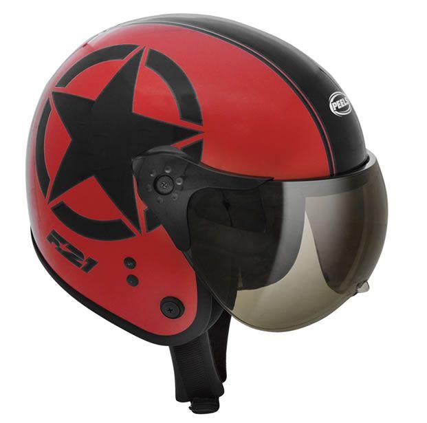 Capacete Peels F21 Army Vermelho/Preto  - Manolo Motos