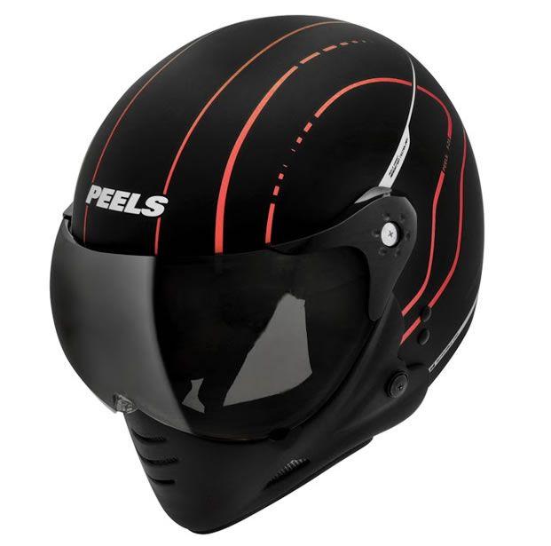 Capacete Peels F21 TechLine Preto Fosco/Vermelho  - Manolo Motos