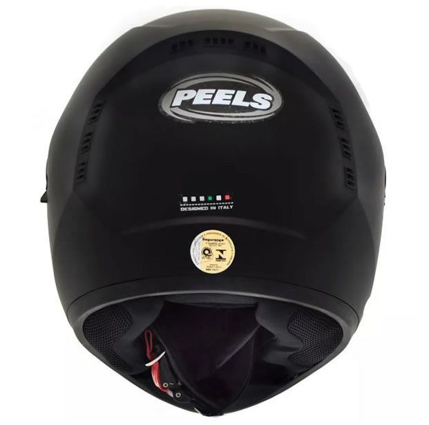 Capacete Peels Icon Classic Preto Fosco Com Viseira Interna  - Manolo Motos