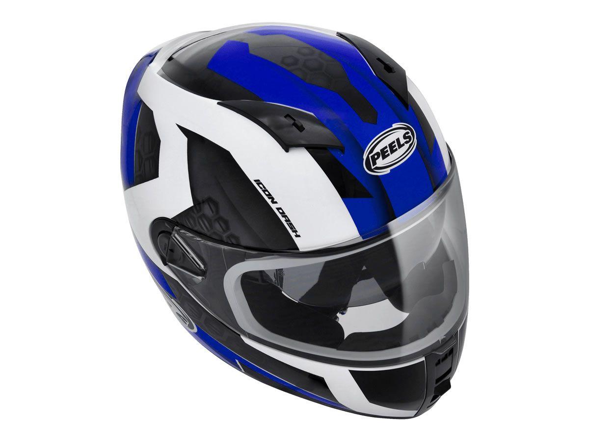 Capacete Peels Icon Dash Branco/Azul  - Manolo Motos