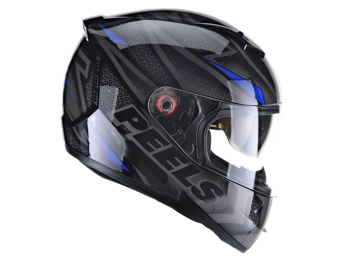 Capacete Peels Icon Fast Preto/Azul  - Manolo Motos