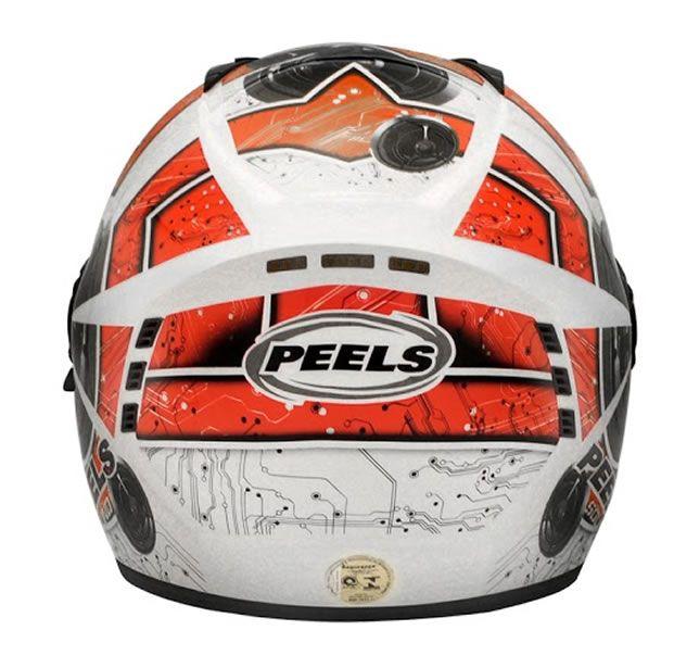 Capacete Peels Icon Sound Branco/Vermelho Com Viseira Interna  - Manolo Motos