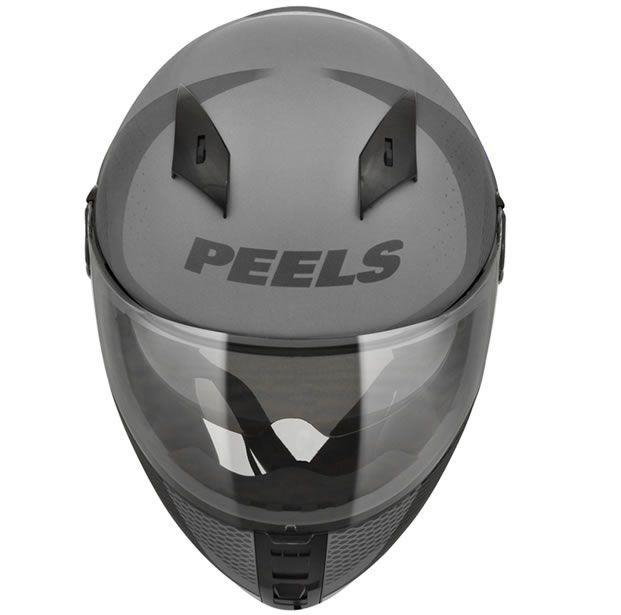 Capacete Peels Icon Wonder Cinza Fosco/Vermelho Com Viseira Interna  - Manolo Motos