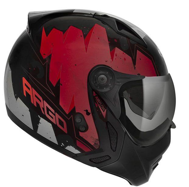 Capacete Peels Mirage Argo Preto/Vermelho Com Viseira Interna  - Manolo Motos