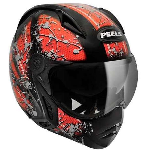 Capacete Peels Mirage Splash Preto Vermelho Com Viseira Interna - Manolo  Motos ... 9e09a23020c