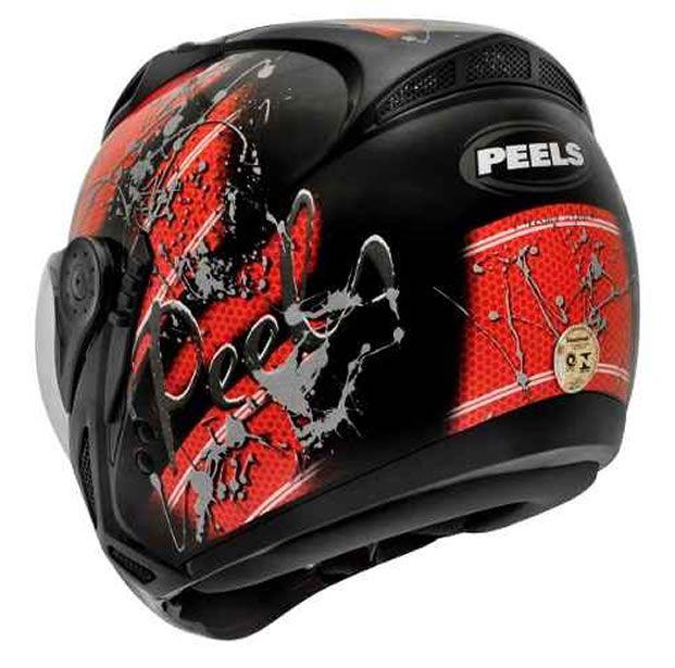 Capacete Peels Mirage Splash Preto/Vermelho Com Viseira Interna  - Manolo Motos