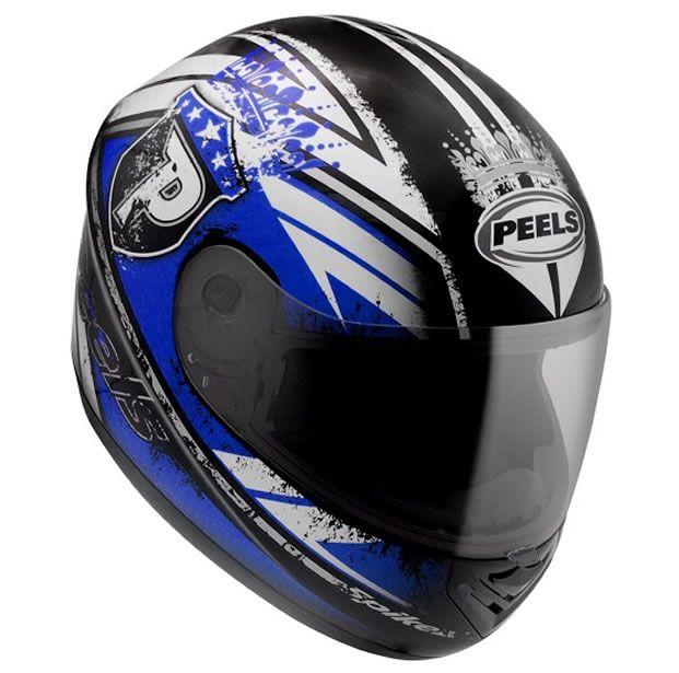 Capacete Peels Spike Thrones Preto/Azul  - Manolo Motos
