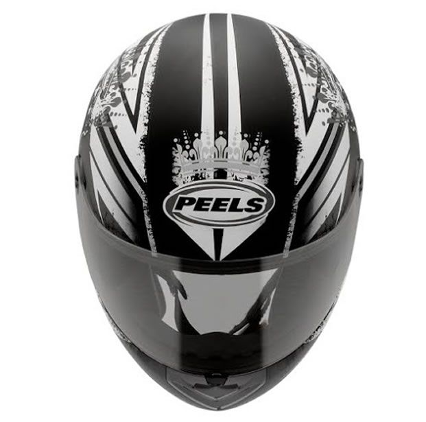 Capacete Peels Spike Thrones Preto/Grafite  - Manolo Motos