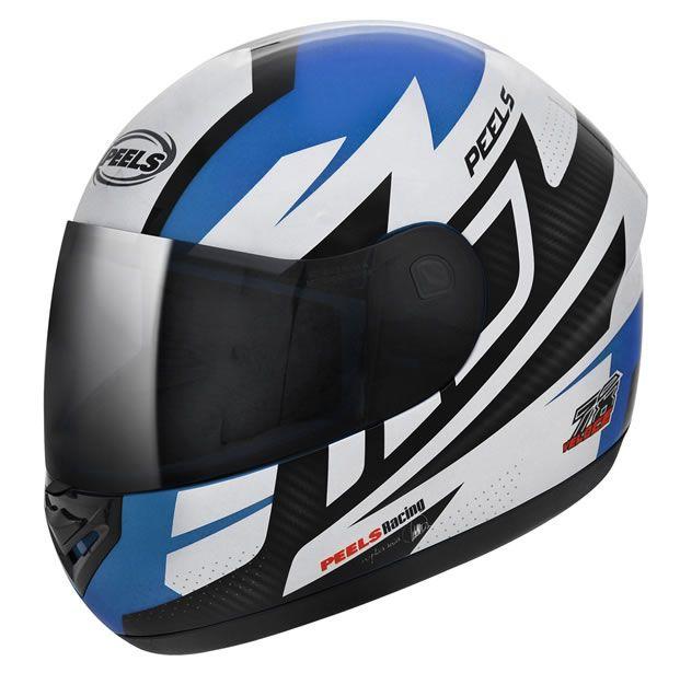 Capacete Peels Spike Veloce Azul Ciano Fosco/Branco  - Manolo Motos